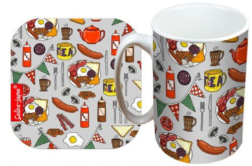 Selina-Jayne English Breakfast Limited Edition Designer Mug and Coaster Gift Set